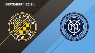 HIGHLIGHTS: Columbus Crew SC vs. New York City FC | September 1, 2018