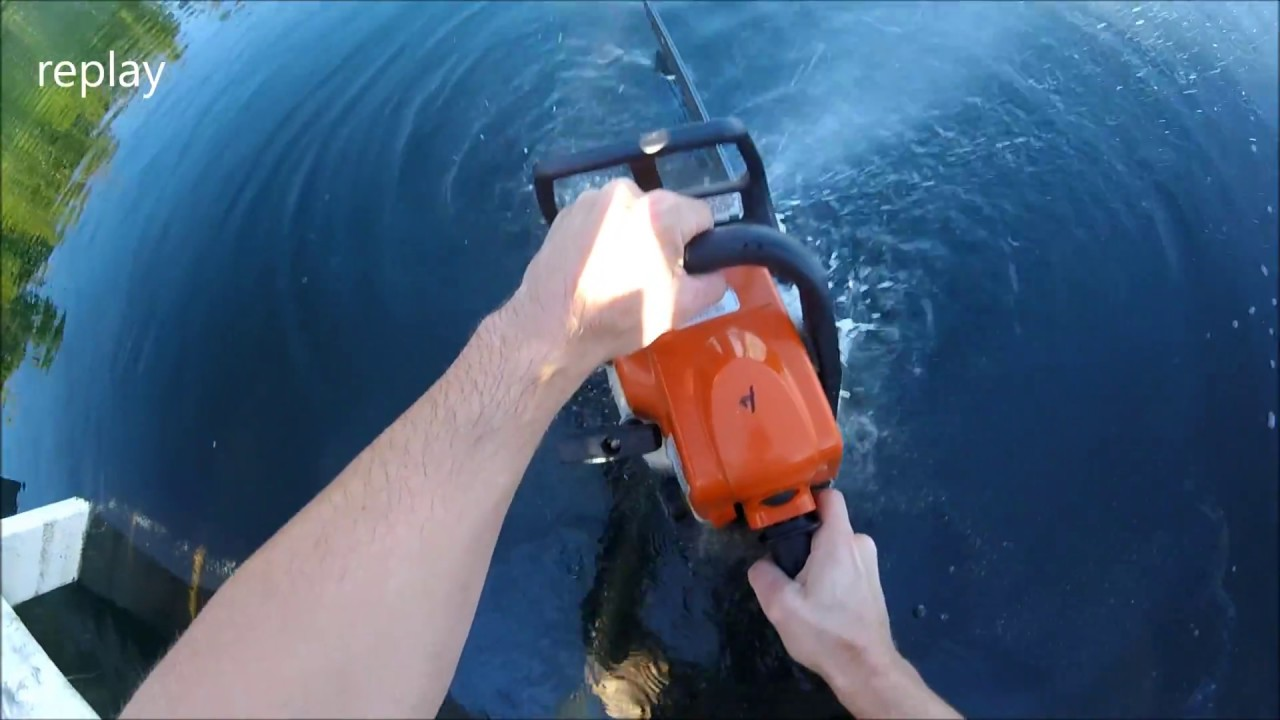 How to ruin a Stihl Chainsaw in less than 2 seconds (251,002 out of  1,000,000 views)