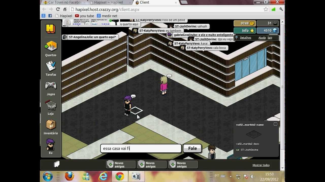 Casas Habblet ~ construçao de uma casa no hapixel YouTube