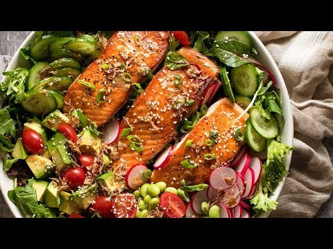 Salmon Salad With Asian Ginger Sesame Dressing