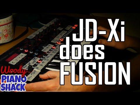 Roland JD-Xi synthesizer does fusion | Jeff Lorber Rain Dance jam