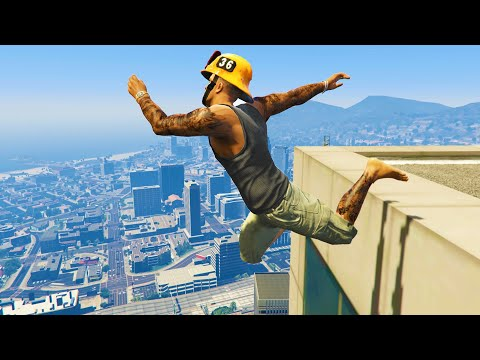 GTA 5 Funny/Crazy Jump Compilation (GTA V Fails Funny Moments)