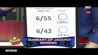 WATCH: PCSO 9 PM Lotto Draw, January 20, 2018