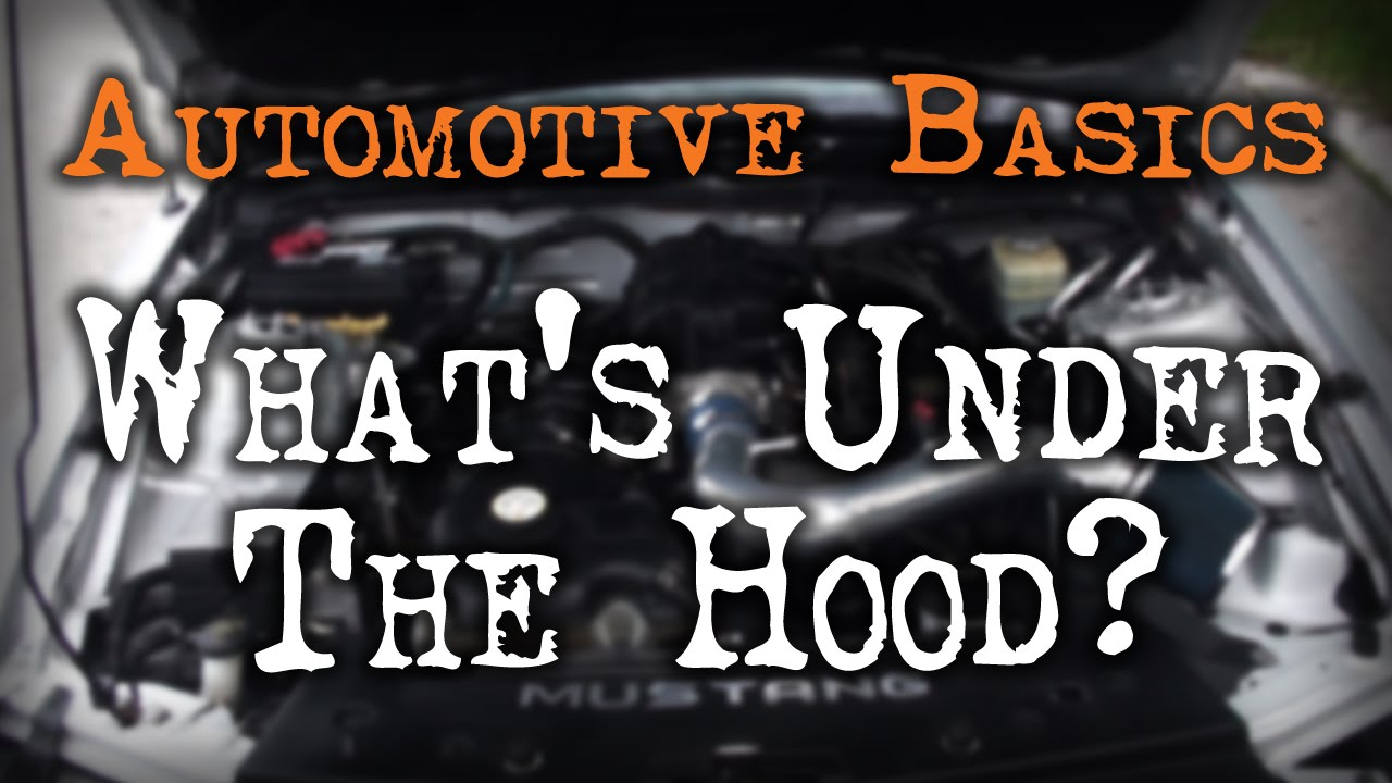Illustration Under The Hood Diagram Car Components Car Parts