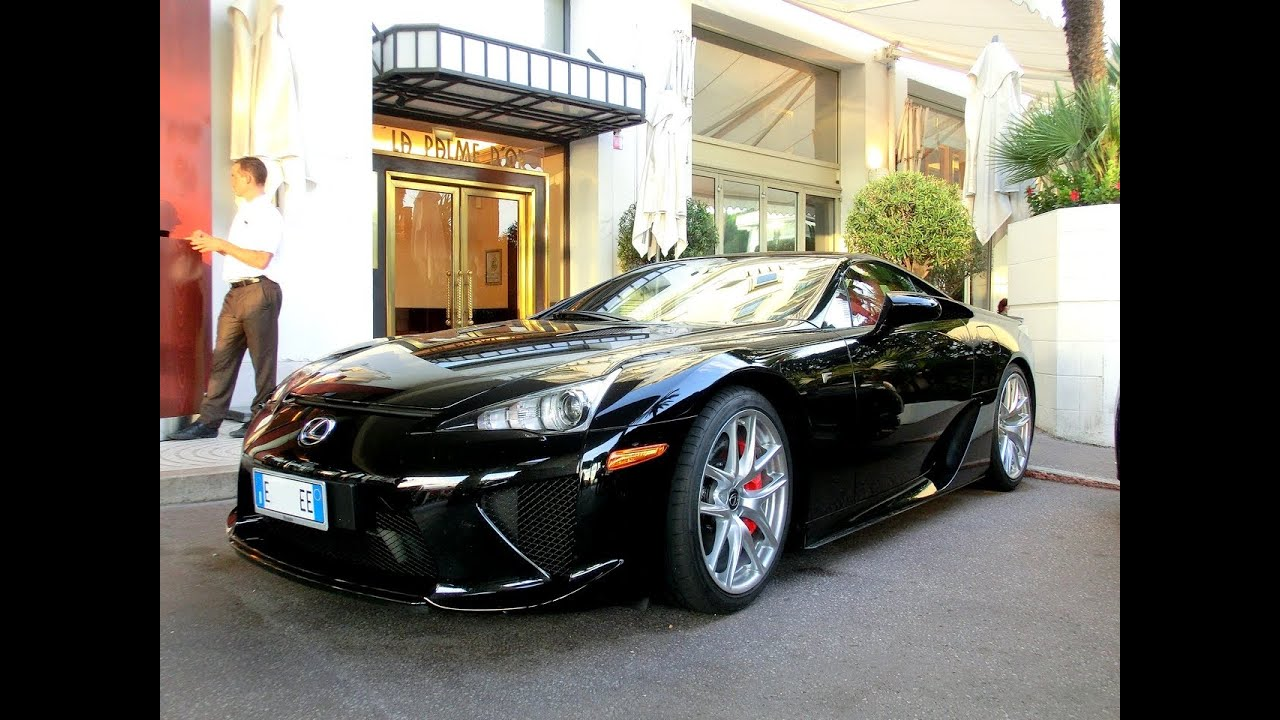 lexus lfa 2015 black. insane black lexus lfa in cannes lfa 2015