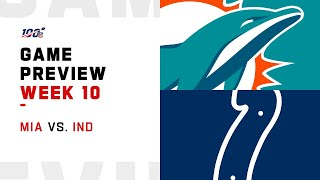 Miami Dolphins vs Indianapolis Colts Week 10 NFL Game Preview