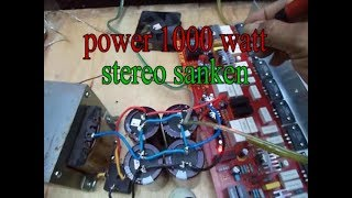 Cara merakit power amplifier 1000 watt stereo sanken