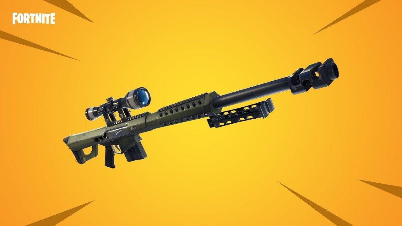 Fortnite 5 Tricks Mit Der Neuen Sniper Barrett Cal 50 Fortnite Battle Royale