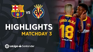 Highlights FC Barcelona vs Villarreal CF (4-0)