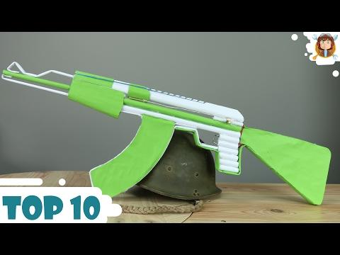 How to make Paper Guns - Car - (Top 10...