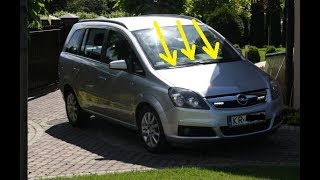 Uwaga na liście i syf w podszybiu - Opel Zafira B