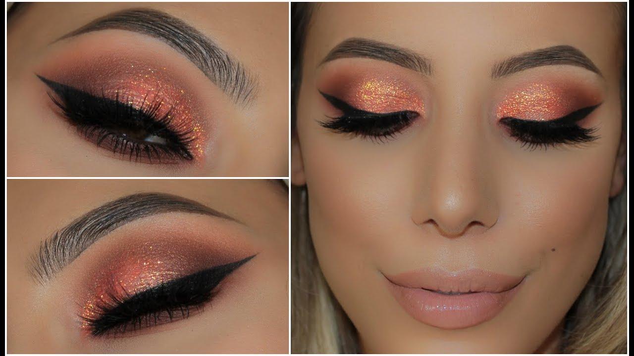 Coralpeach Glitter Summer Smokey Eye Amys Makeup Box Youtube
