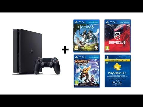 РАСПАКОВКА PS 4 SLIM 3 игры в комплекте