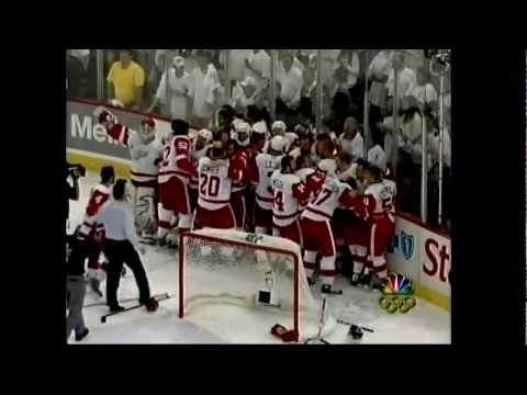 Wings @ Pens Game 6 2008 -  Final 4 Mins/Celebration (NBC)