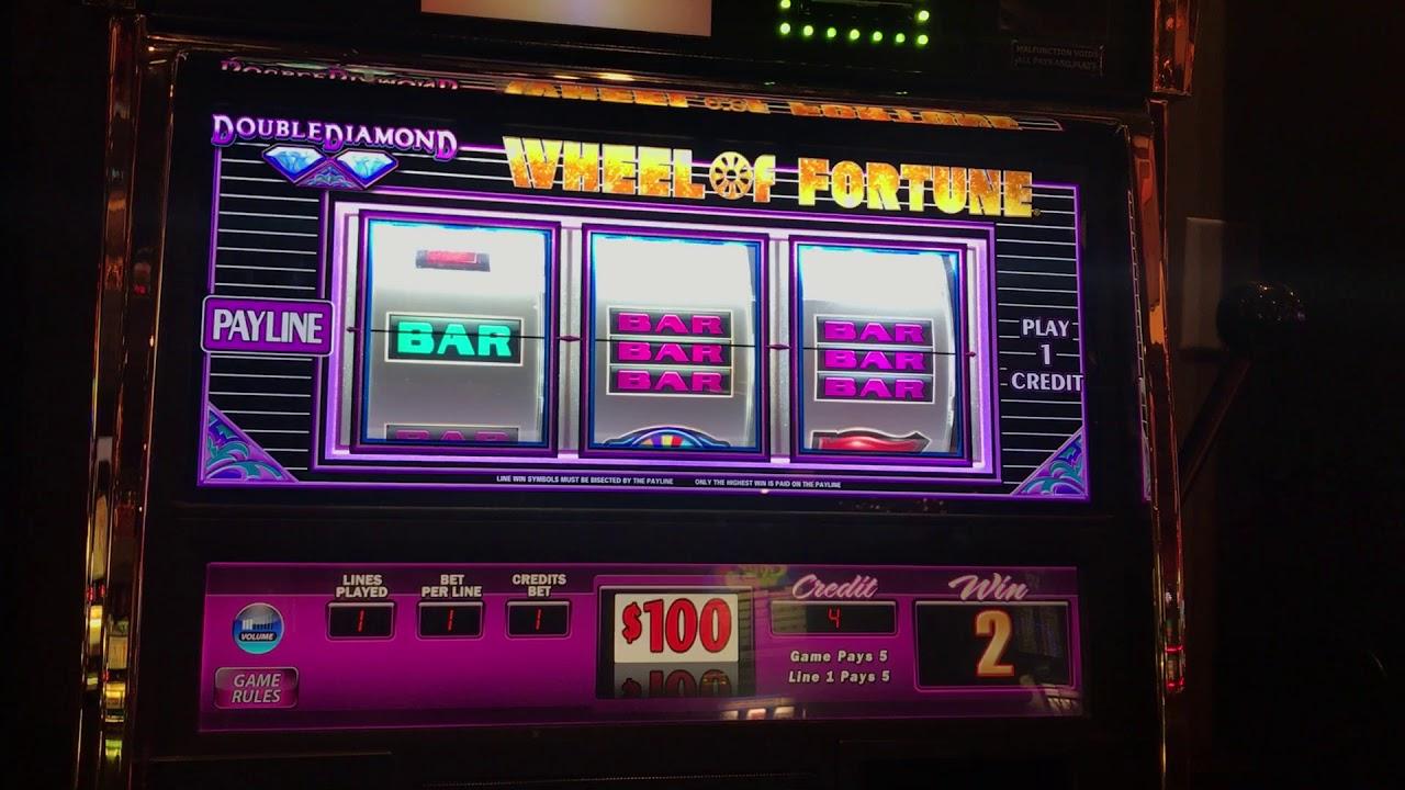 $100 Wheel of Fortune Slot Machine 100 High Limit Slot ...