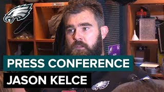 Jason Kelce Excited for the Ring Ceremony & His Honeymoon | Eagles Press Conference