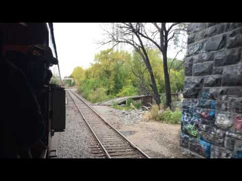 Crossing Nicollet Island Aboard Milwaukee Road 261's Fall Colors Excursion Train