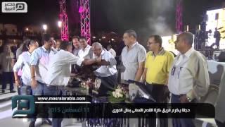 مصر العربية | دجلة يكرم فريق كرة القدم النسائى بطل الدورى
