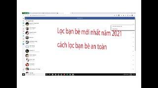 Thủ thuật facebook - Cách lọc bạn bè facebook mới nhất 2021