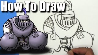 How To Draw a Clash Royale Mega Knight! - EASY - Step By Step