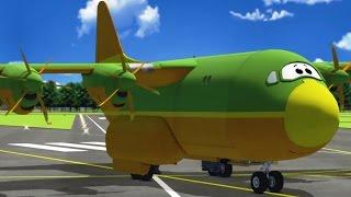 Çocuklar için uçak karikatür - Havaalanı Günlük tatile Gugu (karikatür 68)