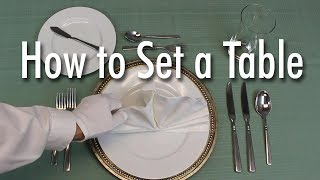 Download Learn How to Set a Formal Dinner Table
