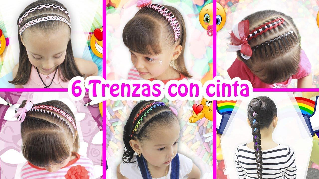 6 Peinados Con Trenza En Cinta 6 Braided Hairstyles Youtube
