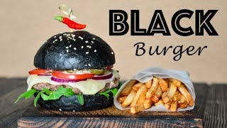 BLACK Burger ☆ НЕРЕАЛЬНО вкусный ☆ Печем БУЛОЧКИ, готовим домашний майонез