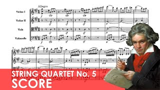 BEETHOVEN String Quartet No. 5 in A major (Op. 18, No. 5) Score