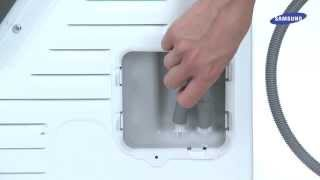 How-to-Video Samsung Condensdroger: aansluiten afvoerslang naar afvoerpijp