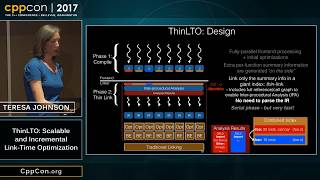 """CppCon 2017: Teresa Johnson """"ThinLTO: Scalable and Incremental Link-Time Optimization"""""""