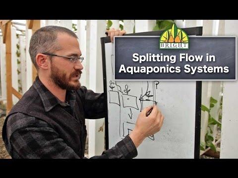 1-Pump Aquaponics Systems: Splitting Flow