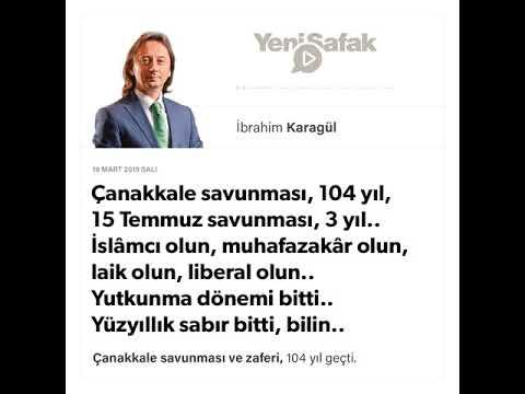 İbrahim Karagül - Çanakkale savunması, 104 yıl, 15 Temmuz savunması, 3 yıl.. - 19.03.2019