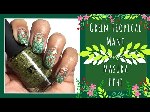 Green Tropical Mani || Masura Magnetic Polish || Hēhē