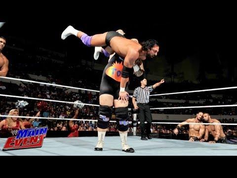 Tons of Funk & The Great Khali vs. Team Rhodes Scholars & Heath Slater: WWE Main Event