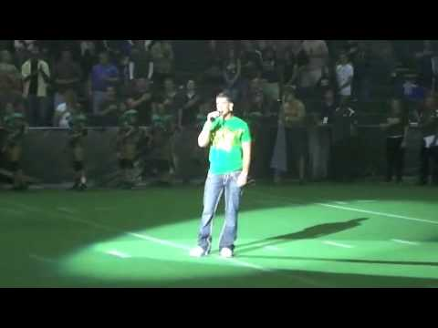 Donnie Klang National Anthem LINGERIE FOOTBALL LEAGUE