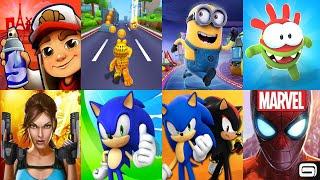 Subway Surfers,Garfield Rush,Minion Rush: Infinite Run Game,Om Nom: Run,Lara Croft Run,Sonic Dash