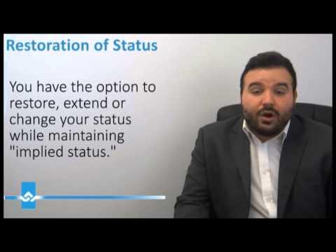 Restoration of Status in Canada