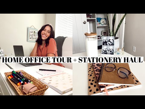 HOME OFFICE TOUR + STATIONERY  HAUL