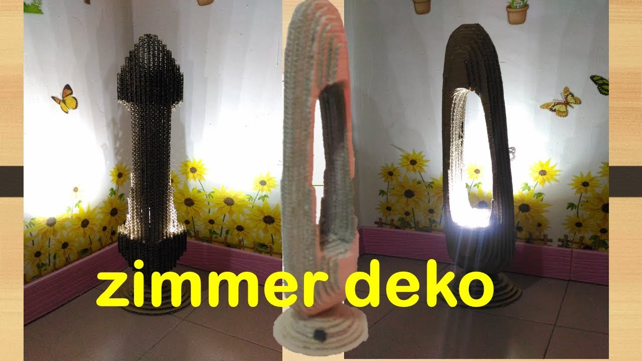 DEKO DIYs Selber Machen | Origami Lampion Aus Karton | Zimmer Deko