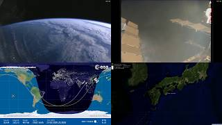 Sunrise Over Asia - NASA/ESA ISS LIVE Space Station With Map - 225 - 2018-10-23