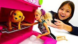 Мультик #КуклыБарби  Кевин оставил #Барби СОБАКУ! Видео для Девочек Играем в Куклы Barbie