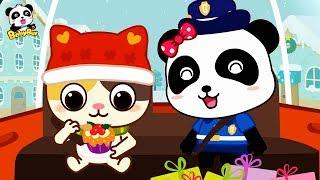 Christmas Policeman Patrol Team | Santa Claus | Christmas Songs | Kids Songs | Babies Videos|BabyBus