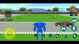 Tank Robot Games 2020 - Police Eagle Robot Car Game - Android Gameplay Part 3 screenshot 1