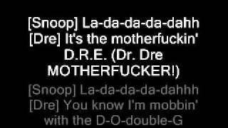 Dr Dre feat. Snoop Dogg and Nate Dogg - The Next Episode Lyrics