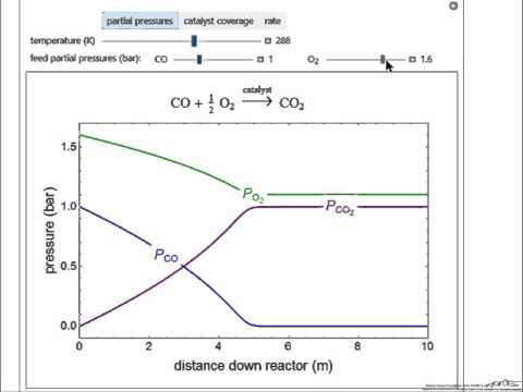 Langmuir-Hinshelwood Reaction in PFR (Interactive Simulation)