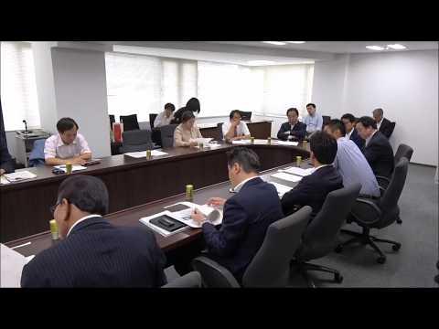 党豪雨等災害対策本部第3回会議 秋田豪雨災害対応について意見交わす