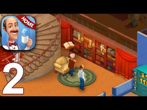 HOMESCAPES Story Walkthrough Gameplay Part 2 - Day 2 (iOS Android)