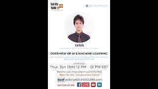 Overview of AI & Machine Learning - LetUsTalkIt Webinars