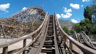 Roller Coaster at Lagoon Amusement Park - HD Front Seat POV